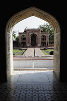 "View from an archway of the Itmad-Ud-Daulah's Tomb or ""Baby Taj"", Agra, India - Alex Mares-Manton"
