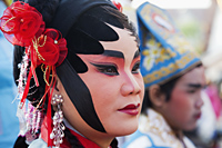 Woman Dressed in Chinese Opera Costume in Chinatown, Bangkok, Thailand - Travelasia