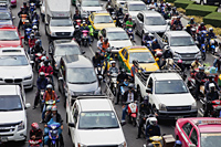 Traffic jam Bangkok, Thailand - Travelasia