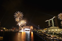 Fire works at Marina Bay, Singapore - Yukmin