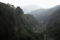 Valley and mountain peeks of the Himalayan foothills, India - Alex Mares-Manton