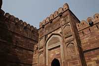 Close up of a wall of the Agra Fort, Agra, India - Alex Mares-Manton