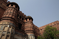Close up of minarets of the Agra Fort, India - Alex Mares-Manton