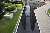 Reflection of the Petronas Twin Towers, Kuala Lumpur, Malaysia - Yukmin