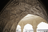 Stone carvings on an archway of the Agra Fort, Agra, India - Alex Mares-Manton