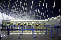Interior of Shanghai Pudong International Airpot customs area, China - Yukmin