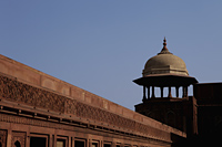 Wall and minaret of the Agra Fort, India - Alex Mares-Manton