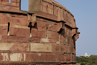 Close up of a wall of the Agra Fort, India - Alex Mares-Manton