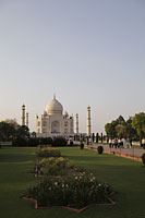 Taj Mahal and surrounding gardens. Agra, India - Alex Mares-Manton