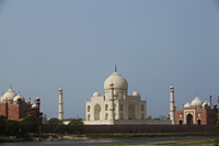 The Taj Mahal seen from the banks of the River Yamuna, Agra, India - Alex Mares-Manton