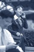 Executives using cellular phones - Alex Mares-Manton