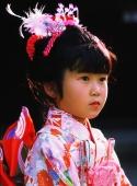 Japan Shichi-Go-San Festival, girl wearing a kimono - Rex Butcher
