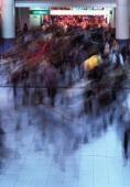 Japan, Tokyo, Shibuya, rush hour in modern shopping complex, incl. station - Rex Butcher
