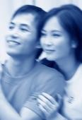 Couple looking off camera (motion blur) - Jade Lee