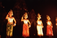 Cambodia, Angkor, Traditional Khmer dance at Preah Khan Temple - John McDermott