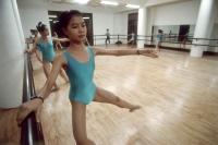 Vietnam, Ho Chi Minh City (Saigon), girls training in ballet studio. - Steve Raymer