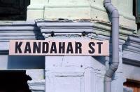 "Singapore, Arab Street, street sign ""Kandahar St"". - Steve Raymer"