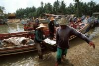 Malaysia, Kota Bahru, fisherman at shore. - Steve Raymer