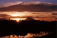 Indonesia, Sumatra, Aceh, sunrise at volcano. - Steve Raymer
