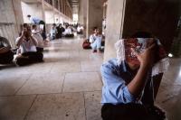 Indonesia, Jakarta, Muslim at Istiqlal Mosque. - Steve Raymer