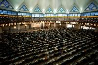 Malaysia, Kuala Lumpur, Muslims pray in National Mosque. - Steve Raymer