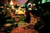 Malaysia, Kuala Lumpur, night market at the capital city. - Steve Raymer