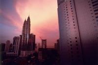 Malaysia, Kuala Lumpur, Petronas Towers at dusk. - Steve Raymer