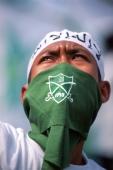 Indonesia, Jakarta, Muslim protester. - Steve Raymer
