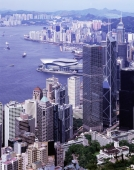 Hong Kong harbor, view from the Peak, day view - Stuart Woods
