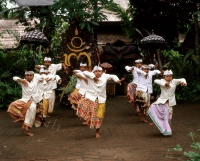 Indonesia, Bali, young boys in traditional costume dancing - Jack Hollingsworth