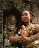 Indonesia, Bali, Balinese dancer in traditional costume - Jack Hollingsworth