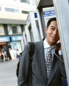 Executive on public telephone. - Jack Hollingsworth