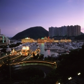 China, Hong Kong, Aberdeen, Shun Wan Harbour, Jumbo Floating Seafood Restaurant - Rex Butcher
