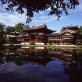 Japan, Kyoto, Uji, Byodo-in Temple, Phoenix Hall, built in 1053 and a UNESCO World Heritage site - Rex Butcher
