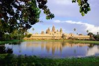 Cambodia, Angkor Wat by day with reflection - Gareth Jones