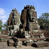 Cambodia, Angkor Thom, Face towers, the Bayon - Gareth Jones