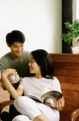 Couple talking at home - Jade Lee