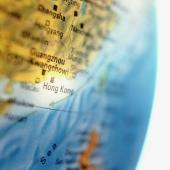 Globe, focus on Hong Kong, close up - Gareth Brown