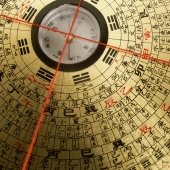 Close up of Luo Pan (Lo P'an), Feng Shui compass - Gareth Brown
