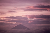 Indonesia, Bali, Sunset at Mt. Agung, view from Lombok - Jill Gocher
