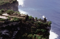 Indonesia, Bali, Ulu Watu Temple, aerial shot - Jill Gocher