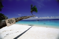 Malaysia, Perhentian Islands,  View of the sea from the beach - Jill Gocher