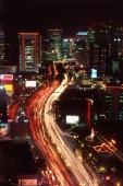 Indonesia, Jakarta, JL Thamrin, night shot - Jill Gocher