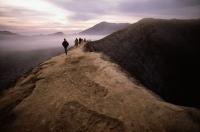 Indonesia, Java, Mt. Bromo, sunrise on volcano rim - Jill Gocher