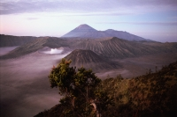 Indonesia, Java, Mt. Bromo, sunrise on volcano rim - Jill Gocher