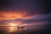 Indonesia, Kei Islands, sunset, boat on water - Jill Gocher
