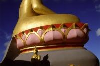 Thailand, Ko Samui, Close-up of golden Buddha. - James Marshall