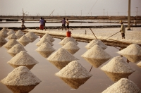 Thailand, Sea salt harvest. - James Marshall
