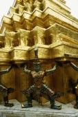 Thailand, Bangkok, Wat Phra Kaew, Statues at temple. - James Marshall