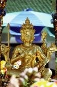 Thailand, Bangkok, Erawan Shrine, 4-faced Buddha. - James Marshall
